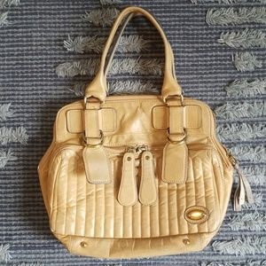 Authentic Chloe Quilted Leather Bay Bag